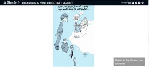 """Adieu Cabu, Wolinski, Tignous, Charb…"" by @Zeptheworld pour Le Monde 7 janvier 2015"